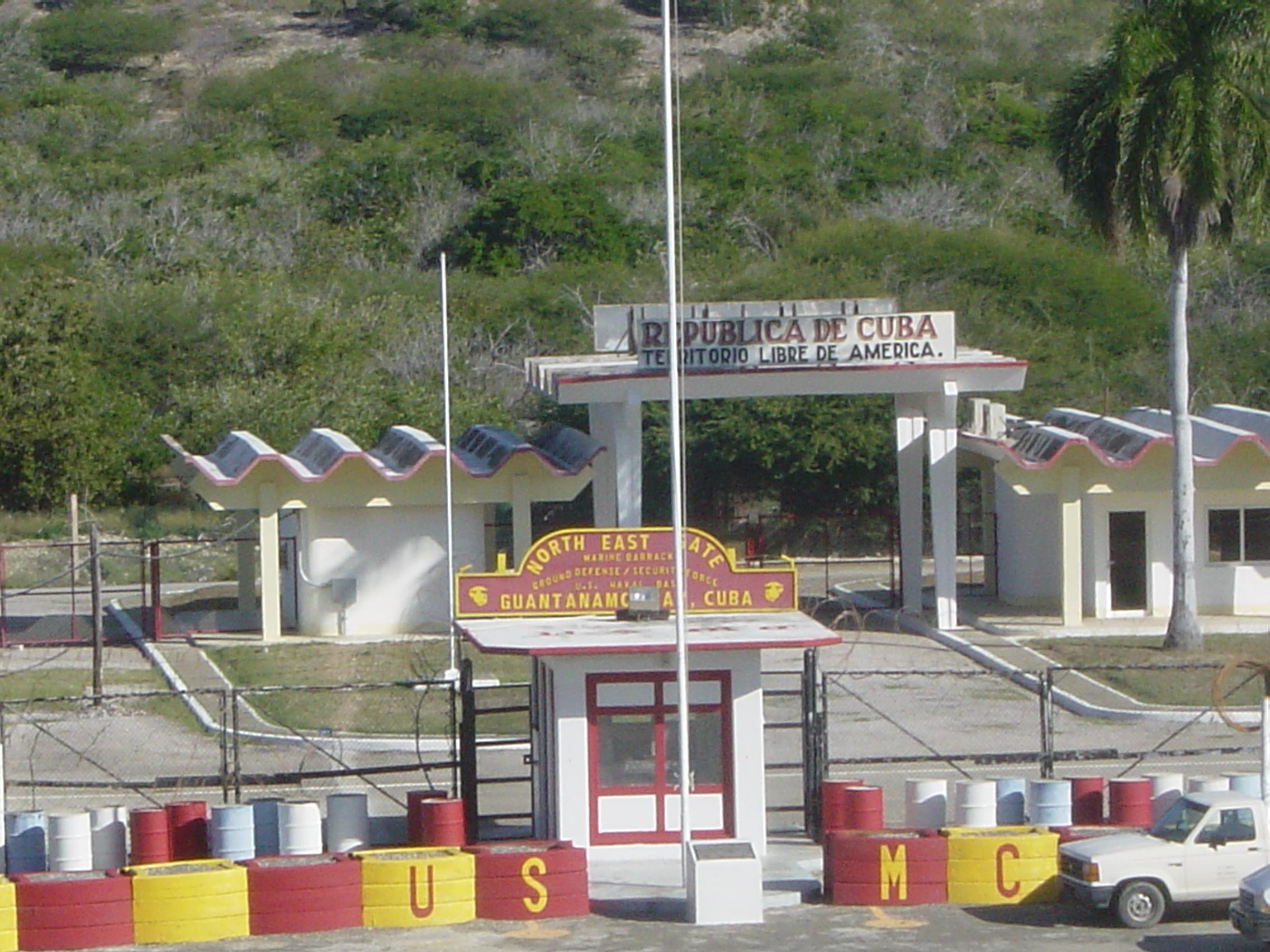 Northeast gate of the Guantanamo Bay Naval Base, Cuba