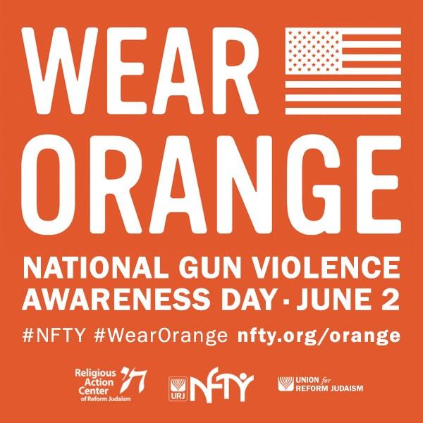 graphic with text wear orange