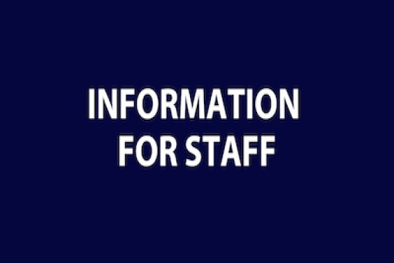 Information for Staff