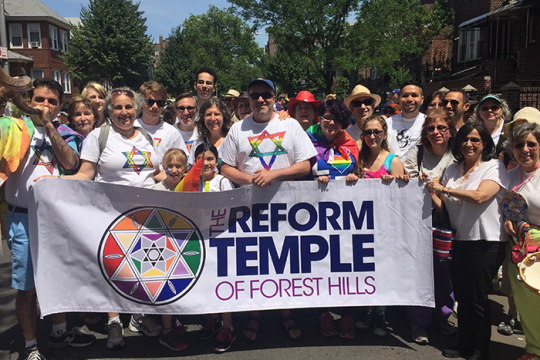 Reform Temple of Forest Hills at Pride March